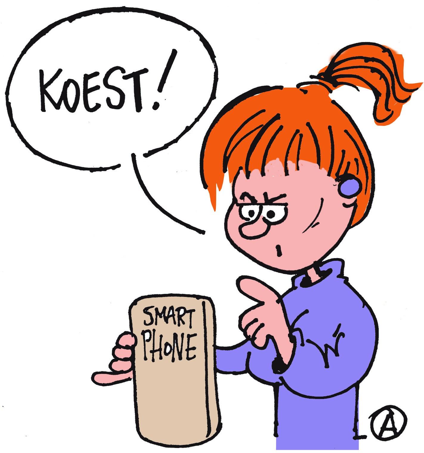 Smartphone roept
