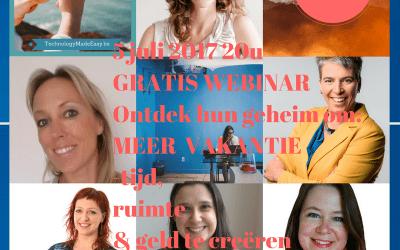 Ondernemen en op vakantie: gratis webinar