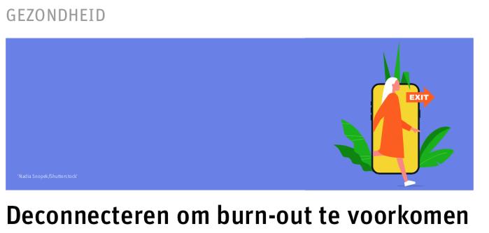 Deconnecteren om burn-out te voorkomen – preventActio 2020 juni