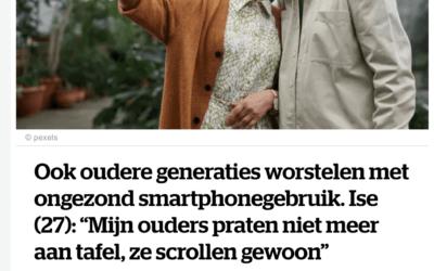 Smartphone verslaving bij ouders? – NINA – HLN Februari 2021